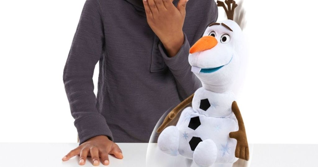 Little boy with Olaf Sprint Surprise