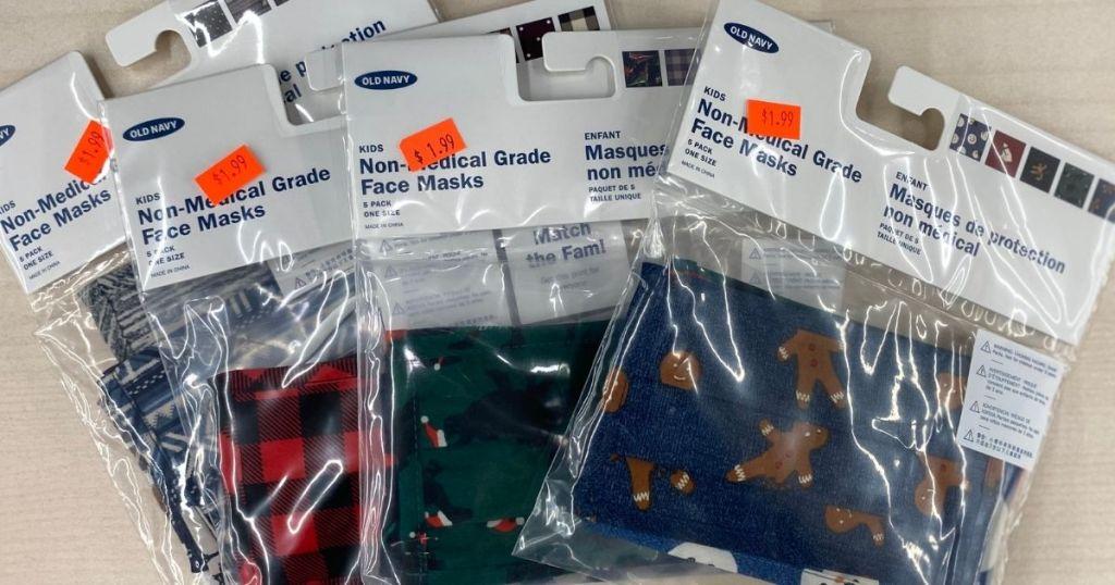packs of Old Navy face masks