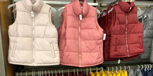 Old Navy Women's Puffer Vests Only $10 – In Stores Only (+ Thermal Tees from $3)
