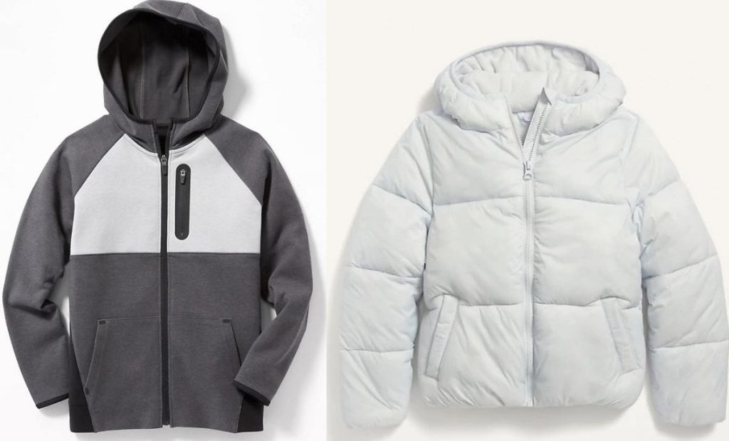 Old Navy Kids Hoodie and Puffer jacket