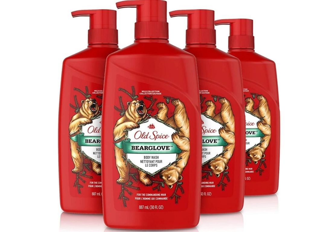 Old Spice Wild Bearglove Scent 30oz Body Wash 4-Pack