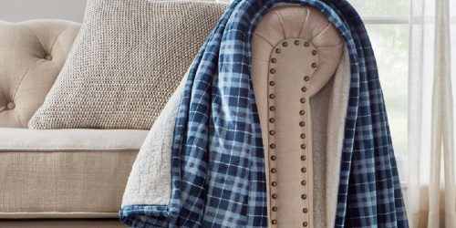 Oversized Sherpa Throw Blankets Only $14.98 Shipped on HomeDepot.com (Regularly $30)