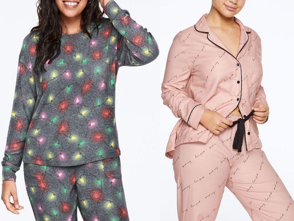Dua wanita mengenakan Piyama PINK oleh Victorias Secret