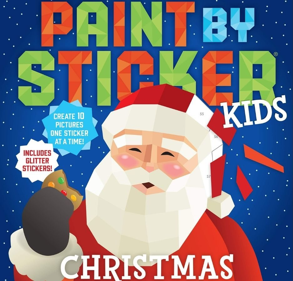 Paint By Sticker Kids Christmas Book