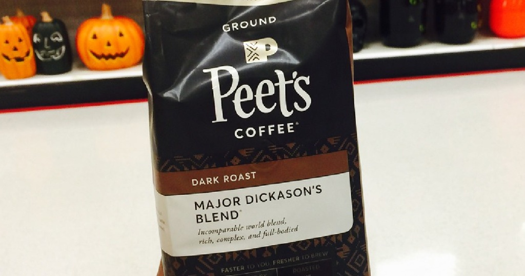 bag of ground coffee in store