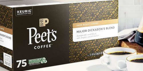 Peet's Major Dickason's Blend Coffee 75-Count K-Cups Only $28 Shipped on Amazon