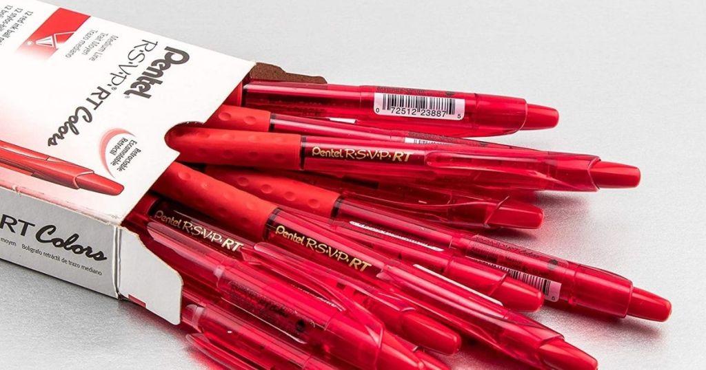 Open box of 12 retractable pens
