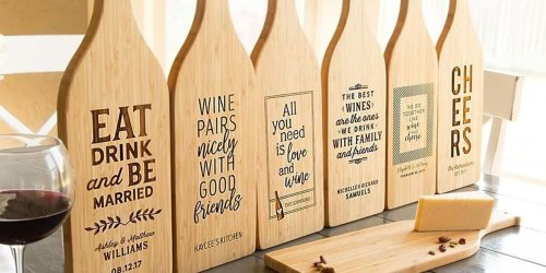 Personalized Wine Bottle Shaped Cutting Board Just $17.99 Shipped | More Gift Ideas Under $25