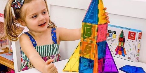 PicassoTiles 32-Piece Magnetic Building Set Only $14.99 on Zulily (Regularly $60)