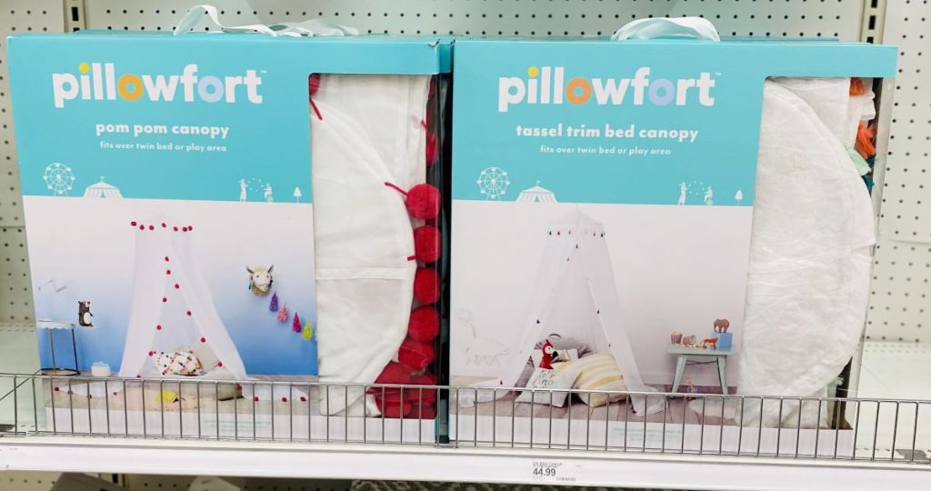 Pillowfort Bed Canopies on shelf at Target