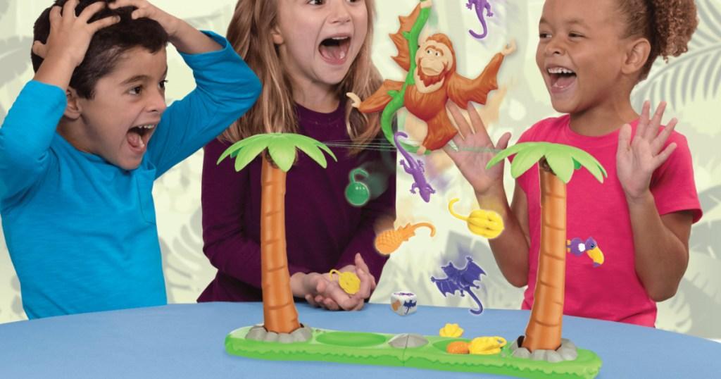 children playing with Orangutwang game