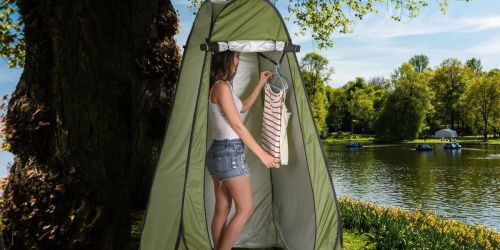 Pop Up Privacy Tent Only $31.97 Shipped on Amazon | Great for the Beach, Camping & More