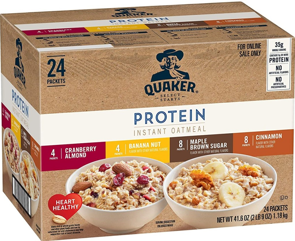 Quaker Oatmeal Protein Variety Pack