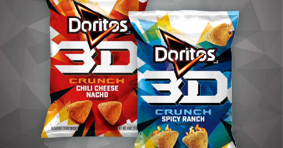 2 bags of 3D Doritos