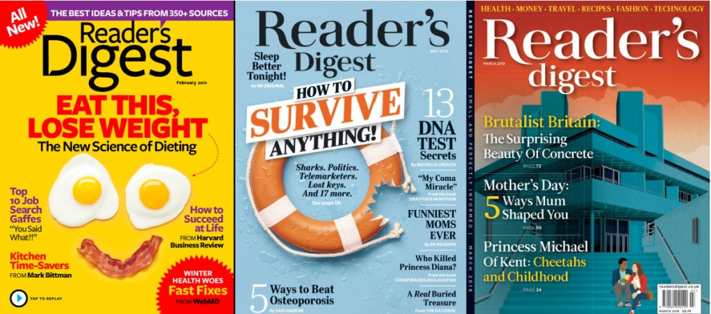 3 reader's digest issues