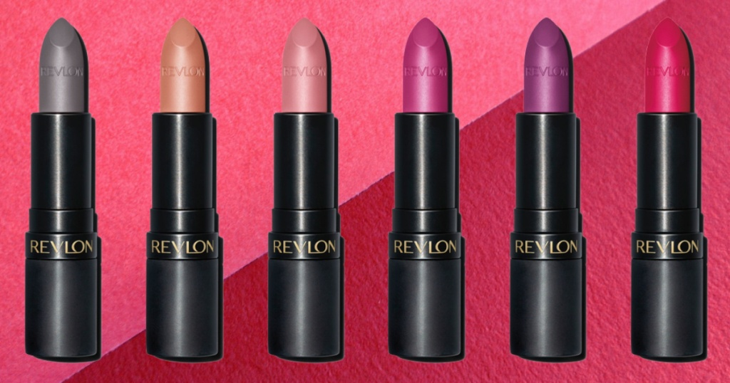 six lipstick tubes in different shades