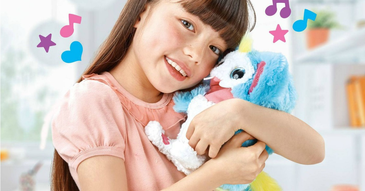 Girl playing with Rizmo Interactive Toy