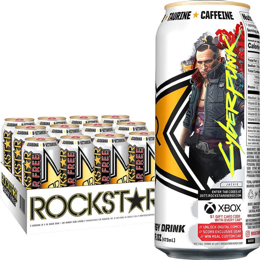 case of rockstar cyberpunk drinks
