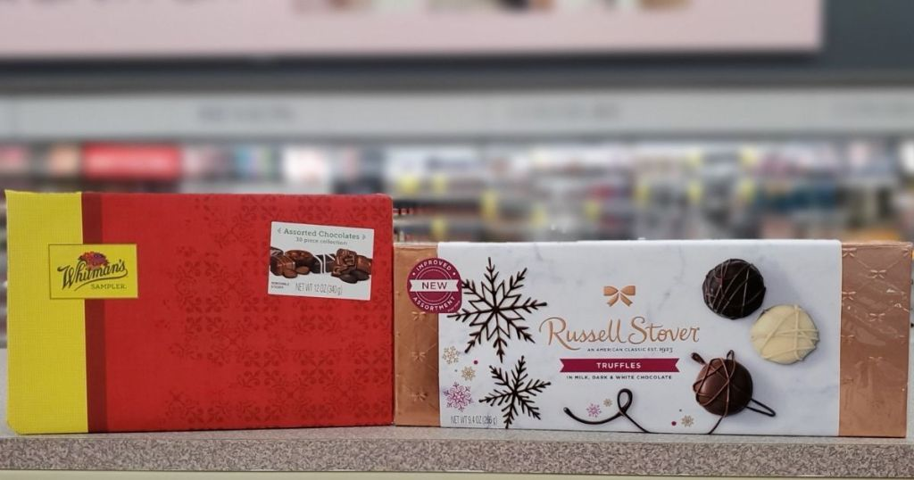 Russell Stover and Whitman's on shelf