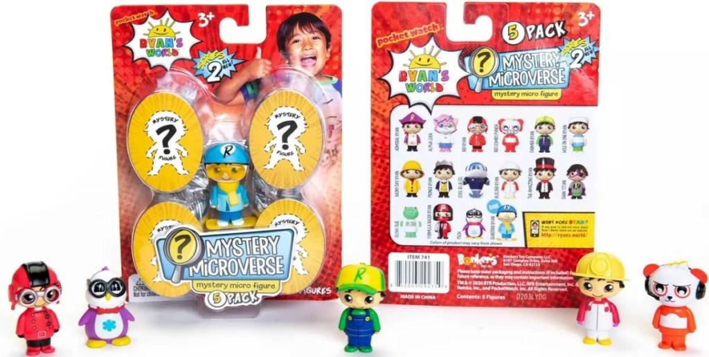 Ryan's World Mystery Microverse Mystery Micro Figure 5-Pack