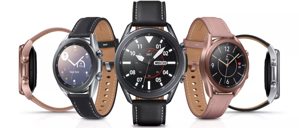 Samsung Galxy Watch3 with different bands