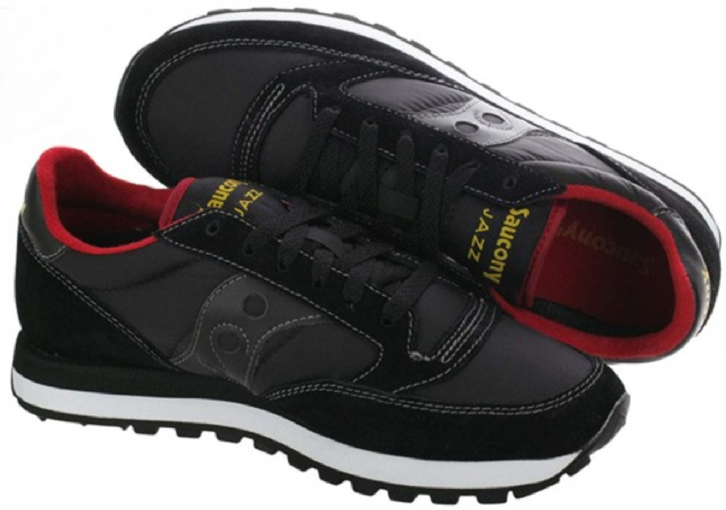 men's black and red saucony shoes