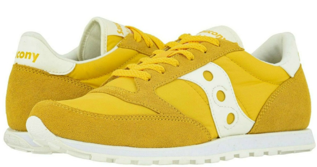 Saucony sneakers in yellow and white
