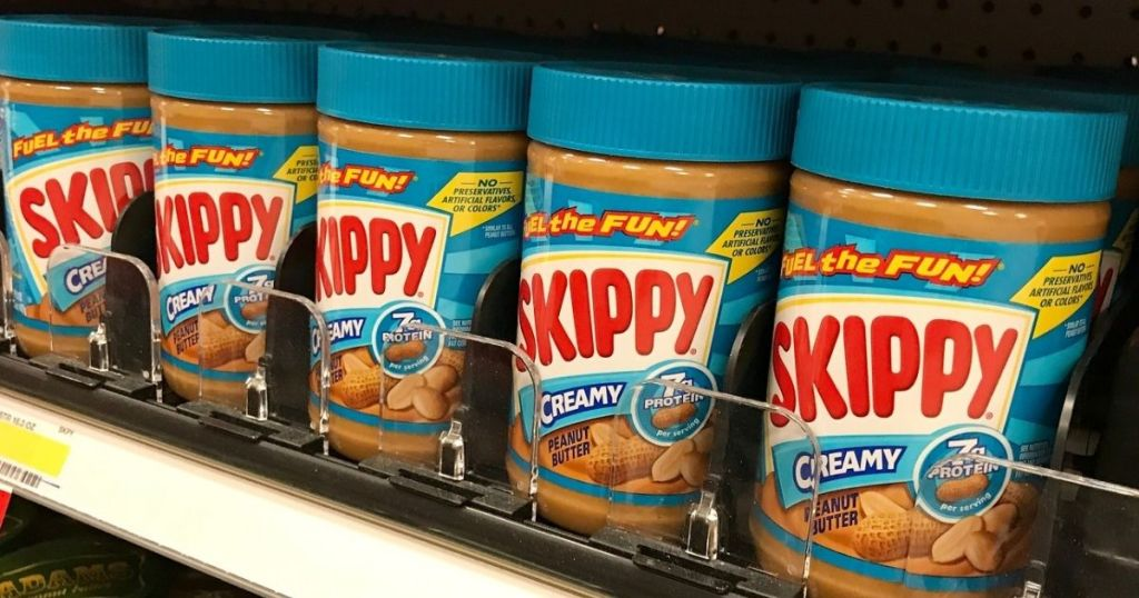 Stopre shelf pof Skippy Peanut Butter