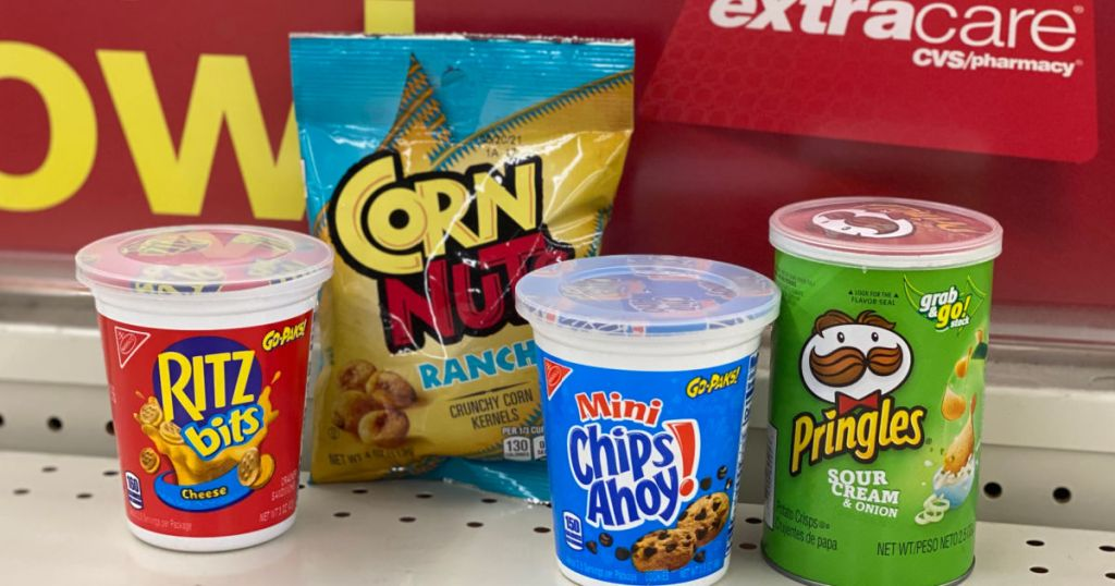 snack items on shelf