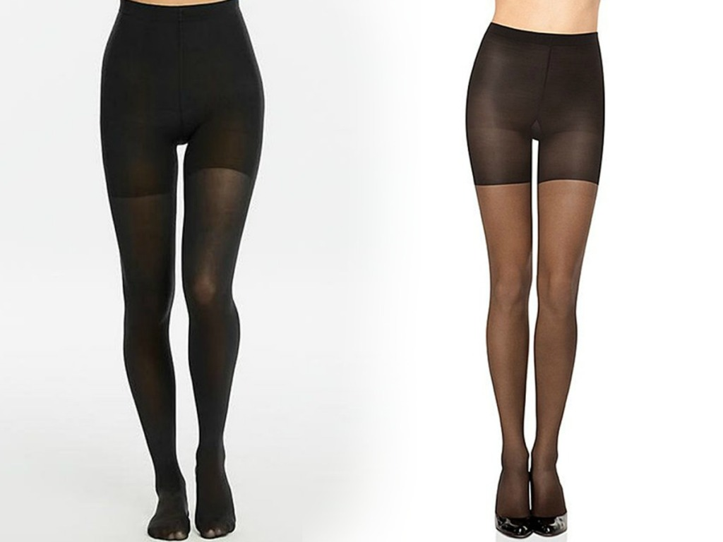 Two styles of Spanx stockings