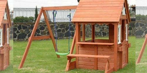 Swing 'N Play Wood Playhouse Just $374.94 Shipped on Zulily