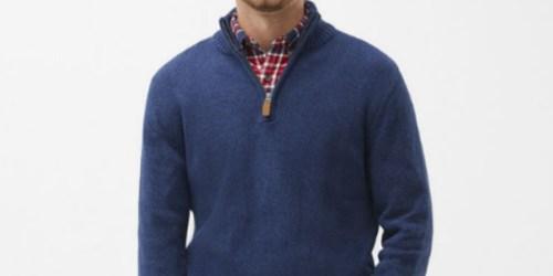 St. John's Bay Men's Quarter-Zip Sweater Just $11.99 on JCPenney.com (Regularly $50)
