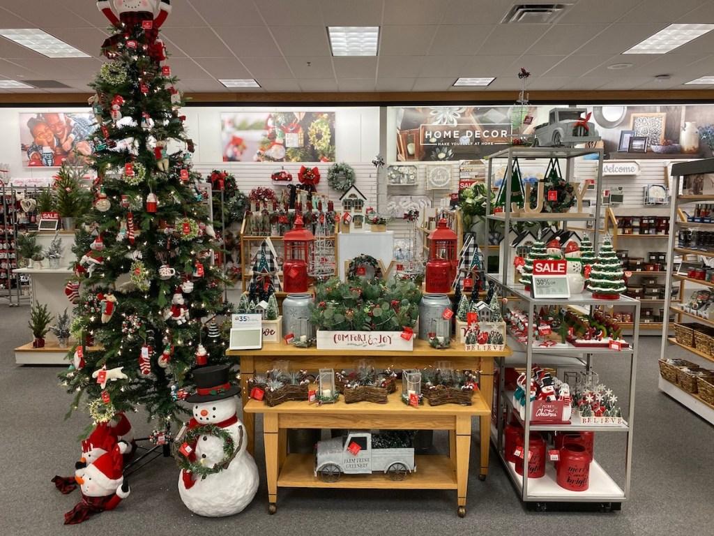 in store kohls display of st nicholas christmas decor items