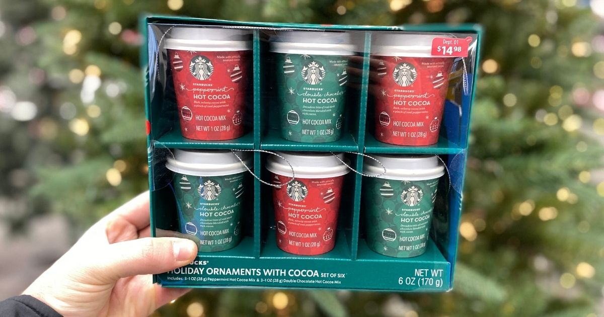 Starbucks Double Chocolate Hot Cocoa Holiday Ornament 1 Oz 6 Pack