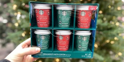 Starbucks Hot Cocoa-Filled Holiday Ornaments 6-Count Gift Box Just $14.98 at Walmart