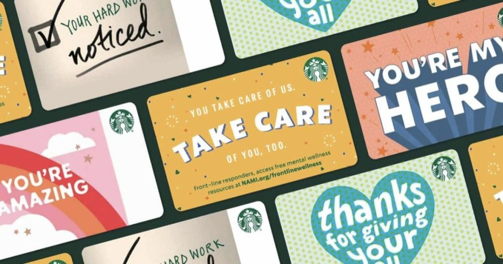 """Starbucks gift card 2020/""""THANKFUL FOR YOU/"""""""