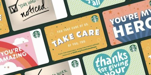 Starbucks Will Make a $5 Donation To Benefit Front-Line Responders w/ Every $5+ eGift Card Sold
