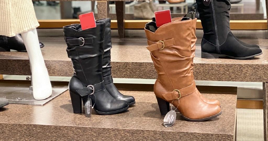 Sun & Stone Sachi Block-Heel Mid-Shaft Boots