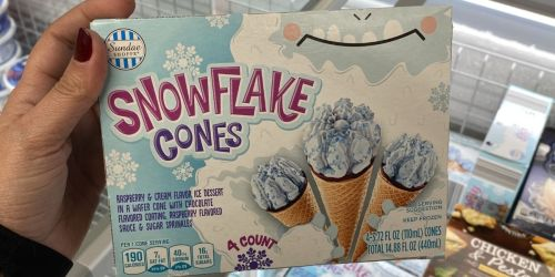 Snowflake Cones Available at ALDI