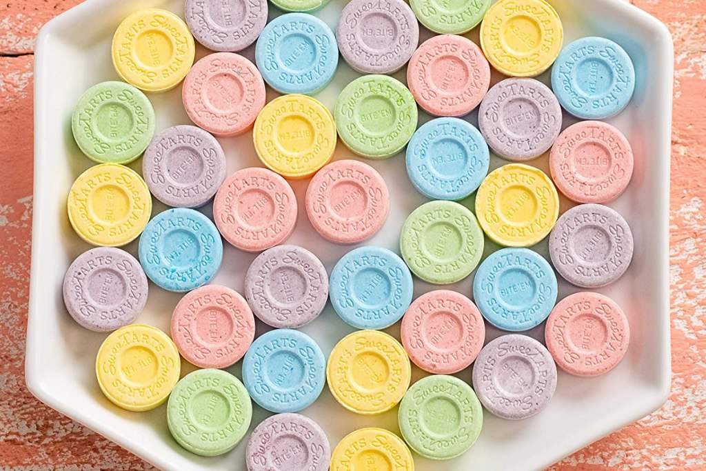 Sweetarts Candy in a dish