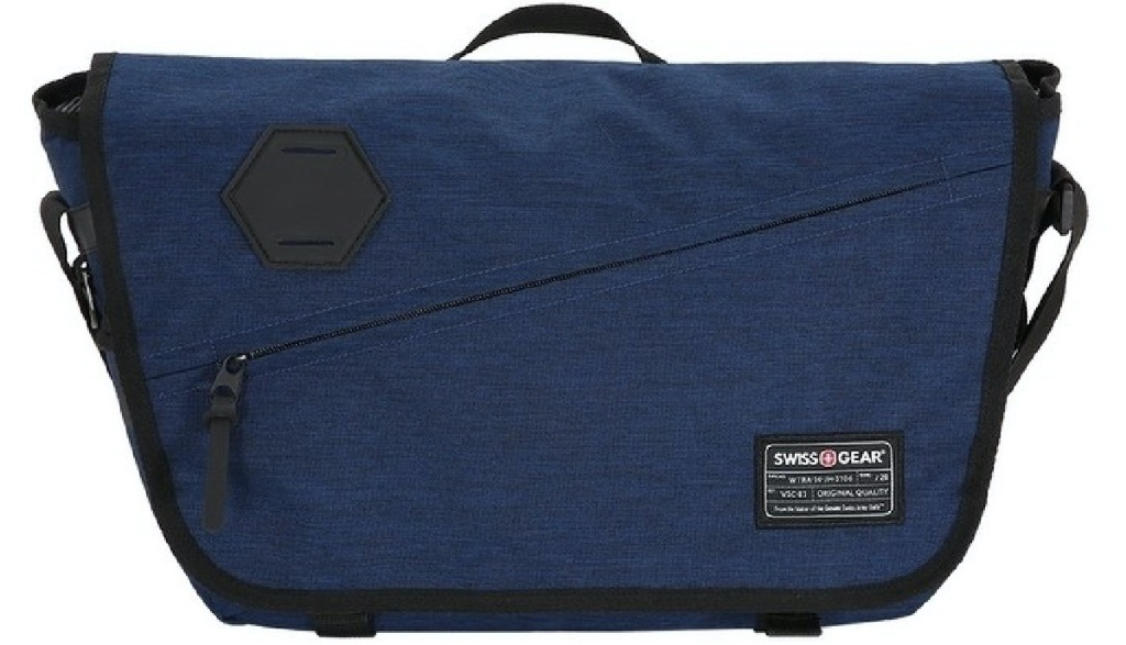 dark blue messenger bag