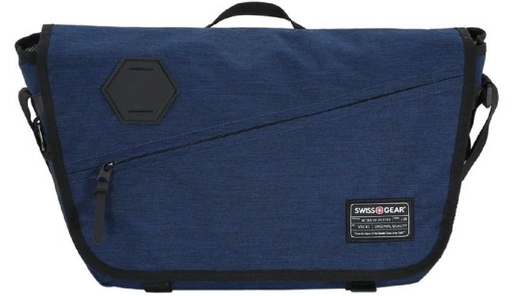 dark blue messenger bag