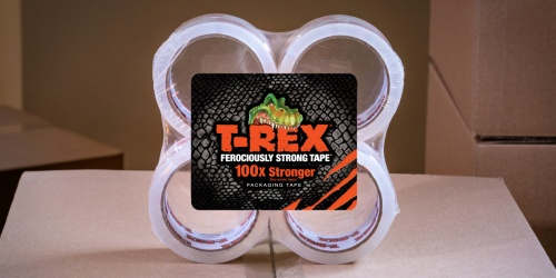 T-REX Packaging Tape 4-Pack Only $8 on Walmart.com (Regularly $14)