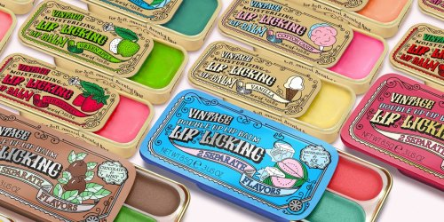 Vintage Flavored Lip Balm Tins Just $5.50 Each Shipped | Fun Stocking Stuffer