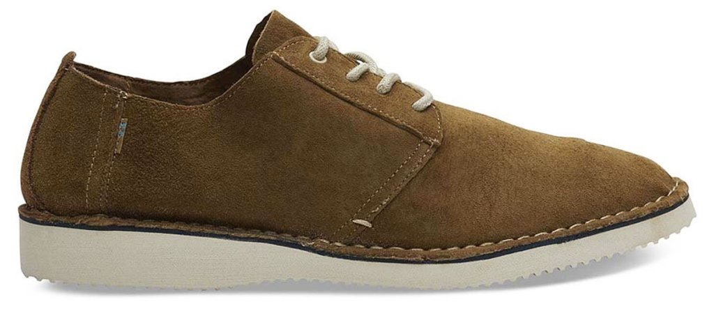 brown suede men's oxford shoe