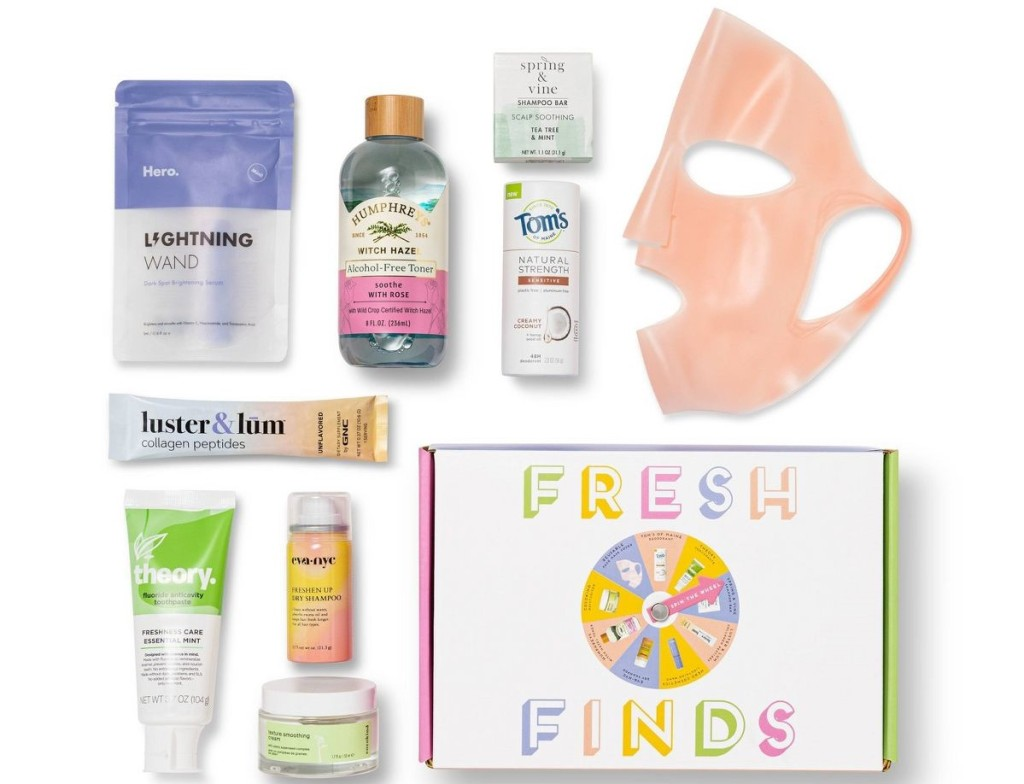 Target Beauty Box samples
