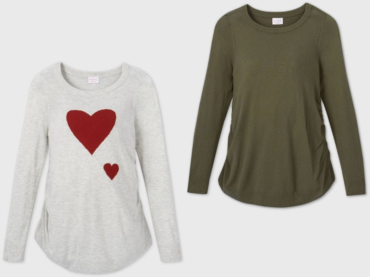 Two maternity sweaters