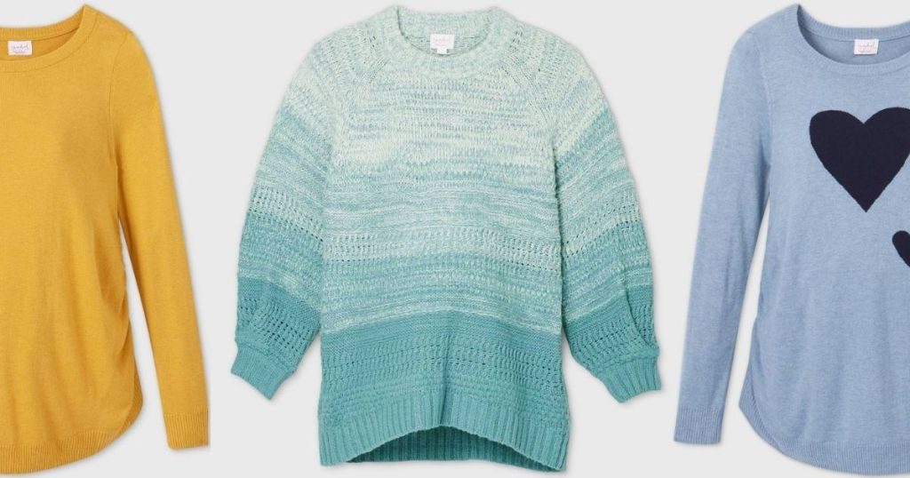 Three Target Maternity Sweaters