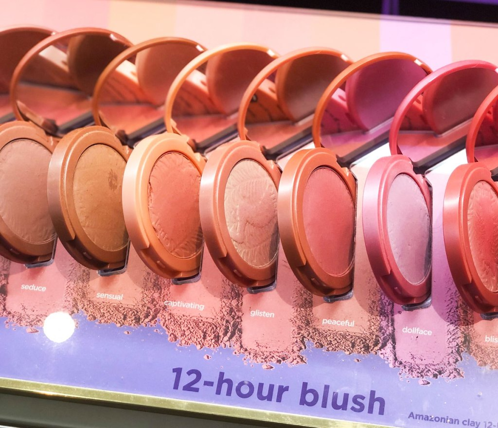 tarte blushes on display in various shades