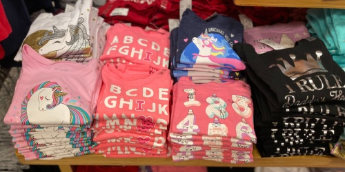 The Children's Place Graphic Tees & Activewear from $4.99 + Free Shipping | Includes Valentine's Day Styles